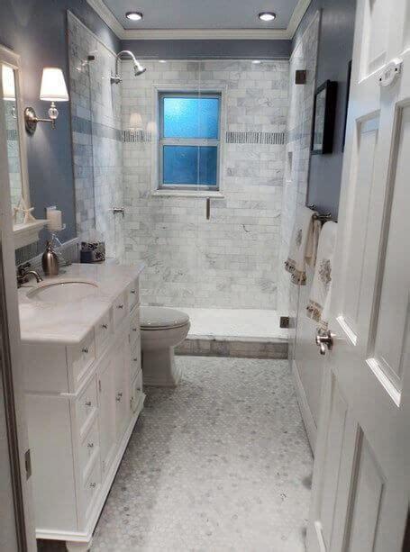 Marble Bathroom Flooring by Small Bathroom Flooring Ideas With Small White Brick Wall