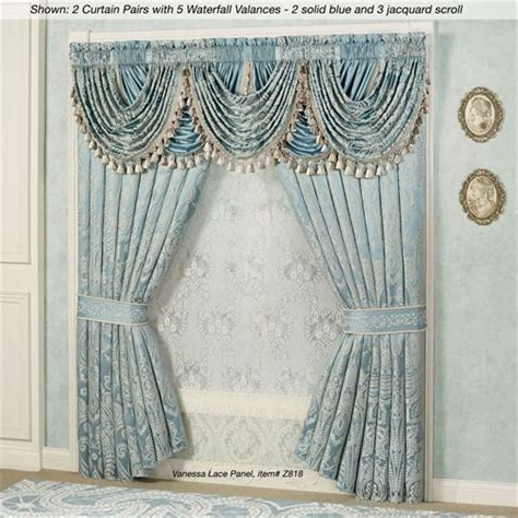 Hang Waterfall Valance Curtains by Regency Waterfall Valance Window Treatment