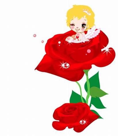 Cupid Valentines Clipart Rose Valentine Clip Transparent