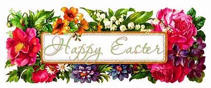 Easter Digital Greeting Flowers Blank Labels Flower