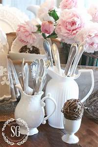 What Do You Have To Offer Farmhouse Style White Pitchers Stonegable