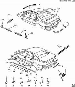Chevrolet Impala Molding  Rear Window Reveal Molding