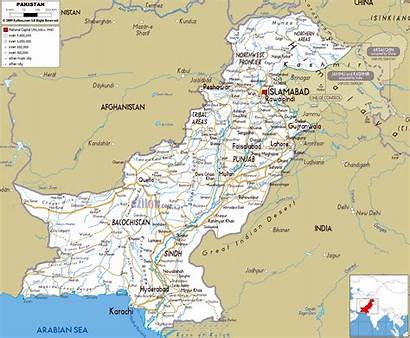 Pakistan Maps Map Road Cities Airports Political