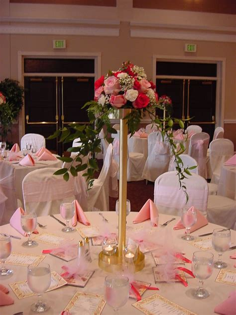 Head Table Centerpieces Reception Decorations Photo