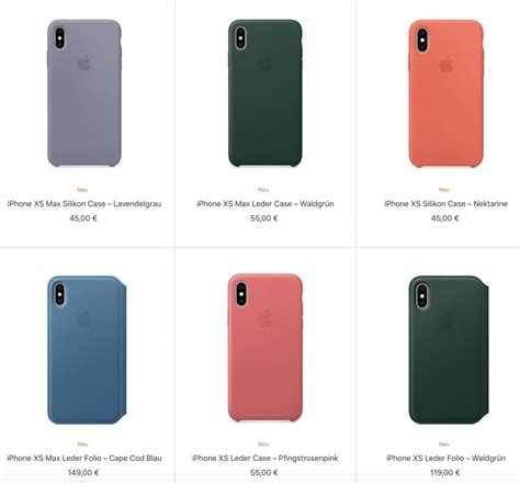 preis neues iphone apple pr 228 sentiert neue cases f 252 r iphone xs und xs max