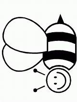 Bee Bumble Coloring Clip Computer Clipart sketch template