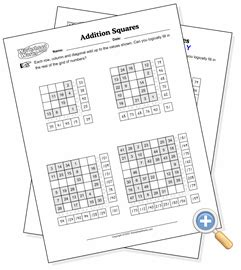 worksheet works math squares answers puzzles