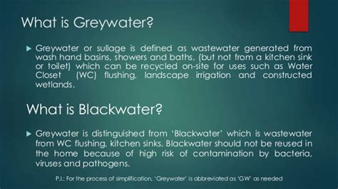 Definition Of Grey by Grey Water Recycling System