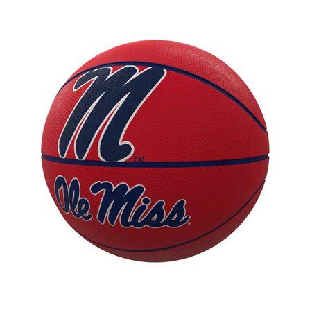 ole  rebels mascot official size rubber basketball