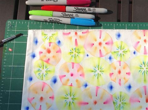 decorating fabric with sharpies design your own fabric easy tutorial