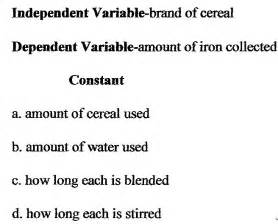 Independent Dependent Variables Examples