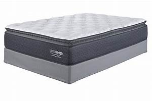 Limited edition pillowtop white king mattress m79941 for Furniture and mattress factory