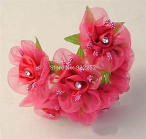 flower making satin ribbon artificial small roses with