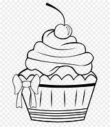 Muffin Coloring Cupcake Frosting Icing Draw sketch template