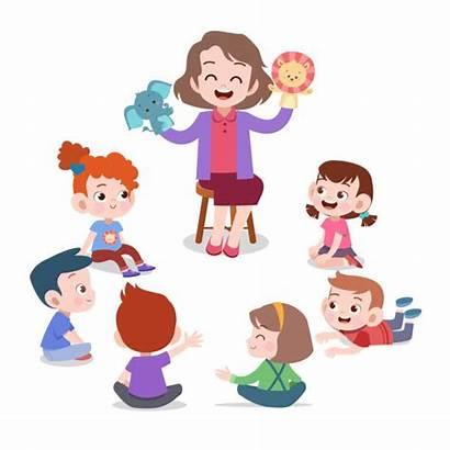 Teacher Student Cartoon Class Boy Clip Montessori