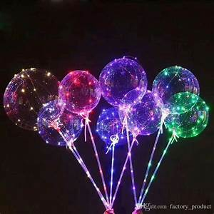 Online Cheap 18 Inch Led Lights Clear Bobo Ball Colorful