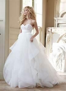 38 stunning layered tulle wedding dresses happyweddcom With wedding dress tulle skirt