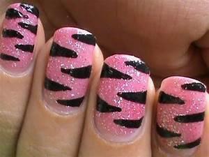 DIY: Pink Tiger Nail Art Designs   Step by Step Nail Art ...