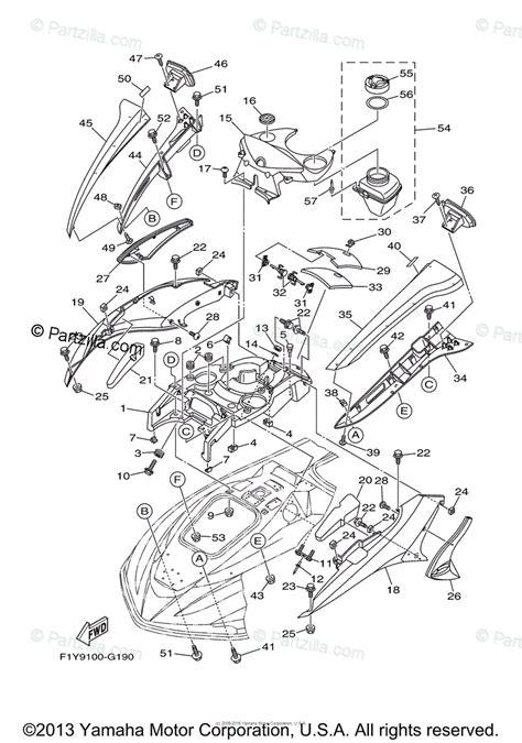 Waverunner Engine Diagram by Yamaha Waverunner 2008 Oem Parts Diagram For Engine Hatch