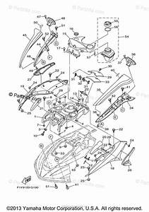 Yamaha Waverunner 2008 Oem Parts Diagram For Engine Hatch 1