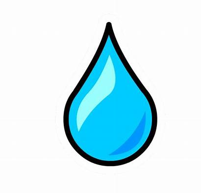 Water Droplet Drop Clipart Clip Outline Droplets