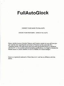Full Auto Glock Conversion Manual