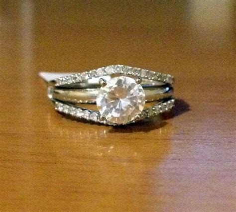 14k yellow gold solitaire enhancer diamonds ring guard wrap wedding band new ebay