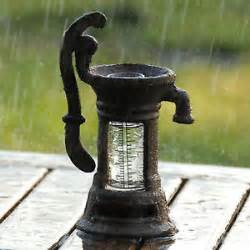 cast iron novel decorative rain gauge ebay