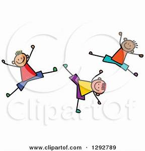 Royalty Free Rf Clipart Illustration Of A Stick Boy And ...