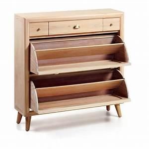 Meuble Chaussure Bois Massif : meuble chaussure en bois massif ~ Teatrodelosmanantiales.com Idées de Décoration