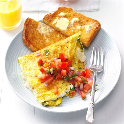 breakfeast recipes cream cheese chive omelet recipe taste of home