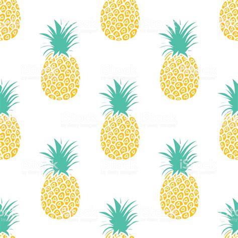 pineapple background cute pineapples seamless pattern