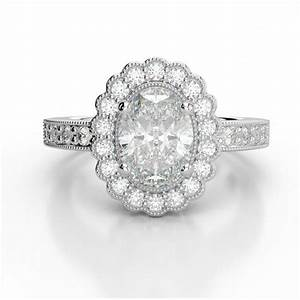 moissanite vs diamond rings vintage oval forever one With vintage oval wedding rings
