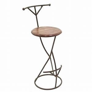 Tabouret De Bar Fer : tabouret de bar design meuble en fer forg et palissandre ~ Dallasstarsshop.com Idées de Décoration