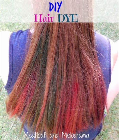 food coloring hair dye meatloaf and melodrama diy temporary hair dye