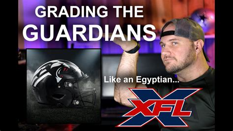 xfl grading  york guardians uniforms helmet