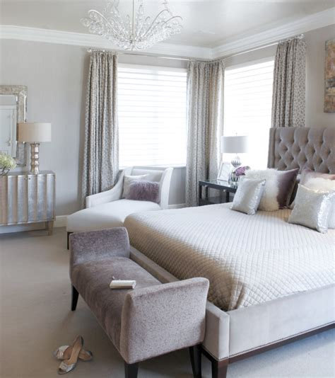 modern luxe bedroom classique chic chambre  york