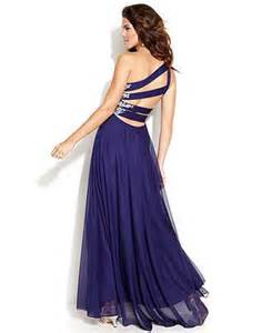 junior bridesmaid dresses macy s xscape one shoulder embellished cutout gown juniors prom dresses macy 39 s prom hair