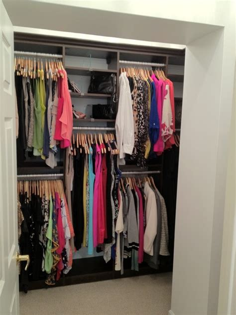 boutique walk in closet reach in accessory closet