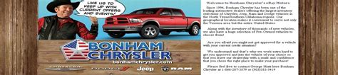 Bonham Chrysler Dodge Jeep by Items In Bonham Chrysler Dodge Jeep Store On Ebay