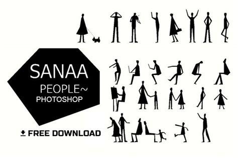 sanaa style human figures brush  architects