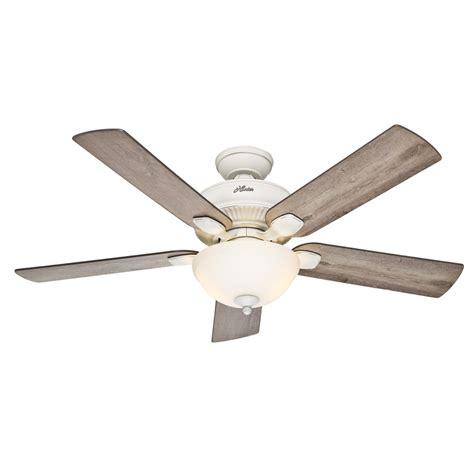 outdoor ceiling fan light kit shop hunter matheston 52 in cottage white indoor outdoor