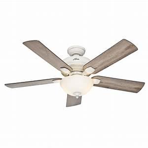 Hunter ceiling fan light kit white : Hunter matheston in cottage white outdoor downrod