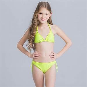2017 Crochet Bikini for Girls Candy Color Children ...