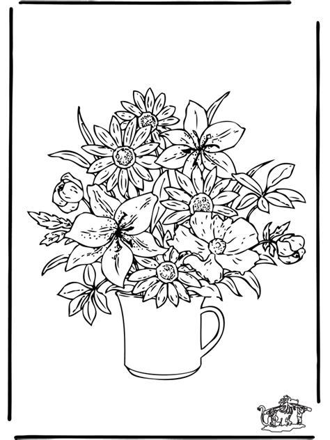 flowers  fargeleggingstegninger blomster