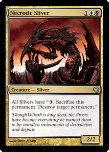 necrotic sliver creature cards mtg salvation