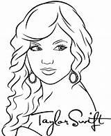 Swift Taylor Coloring Singer Printable Pop Singers sketch template