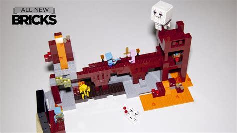 lego minecraft   nether fortress speed build youtube