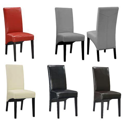 chaise salle a manger noir chaise de salle a manger simili cuir noir