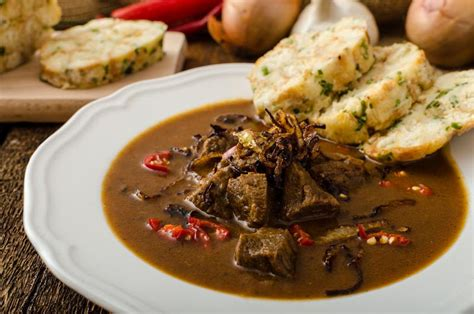 cuisine prague food cuisine in prague goulash svickova